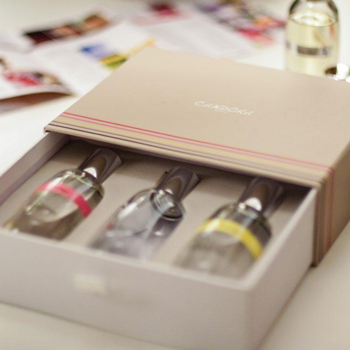 Coffret échantillons de parfum Candora Paris