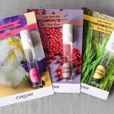 Echantillons parfums Candora Paris